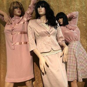 BLOOMINGDALES Vintage Pink Women's Sequin Suit